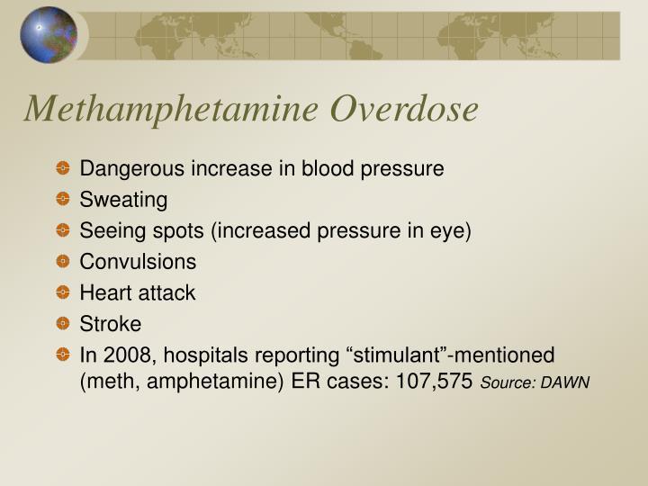 what are the symptoms of methamphetamine overdose