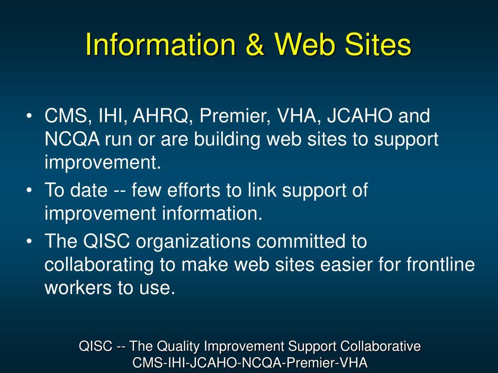 Information & Web Sites