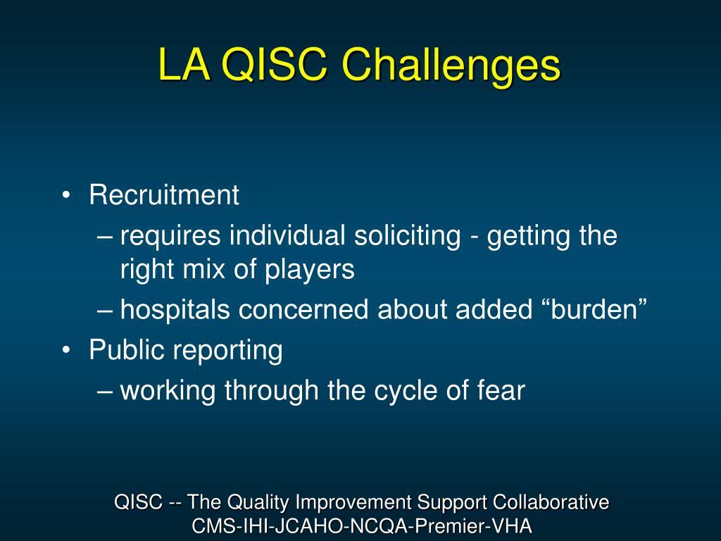 LA QISC Challenges