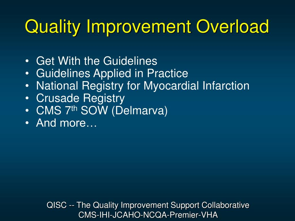 Quality Improvement Overload