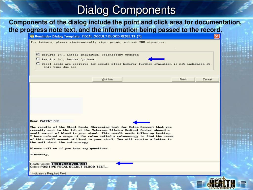 Dialog Components