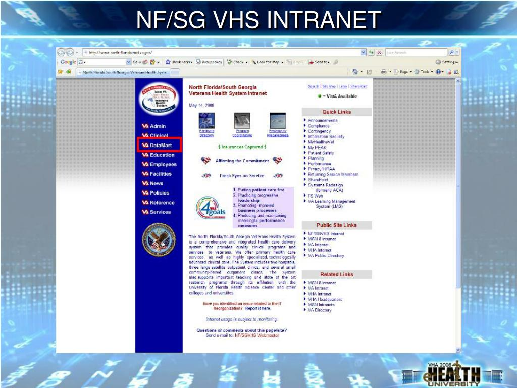 NF/SG VHS INTRANET