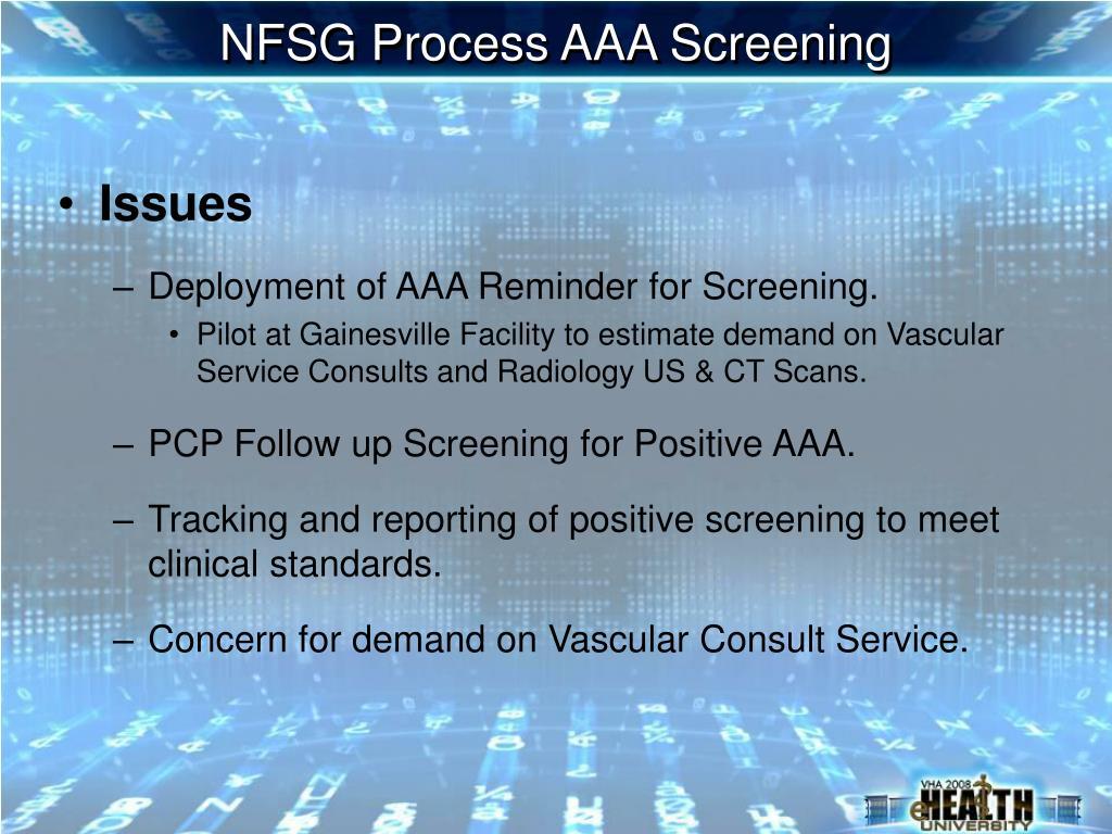 NFSG Process AAA Screening