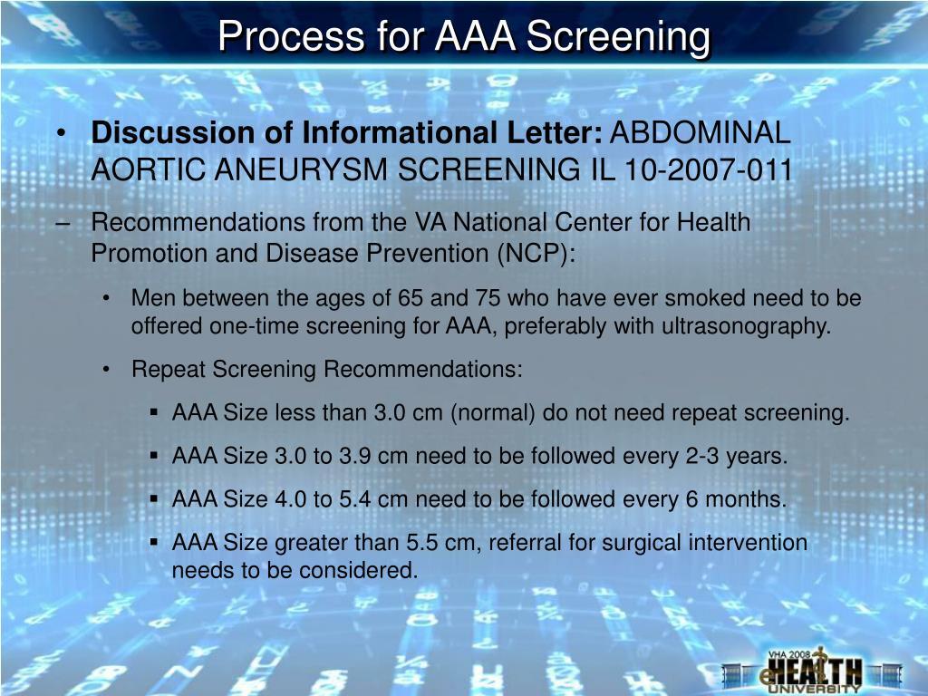 Process for AAA Screening