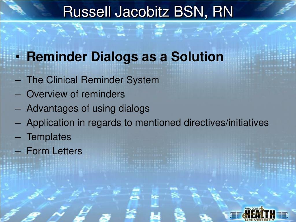 Russell Jacobitz BSN, RN