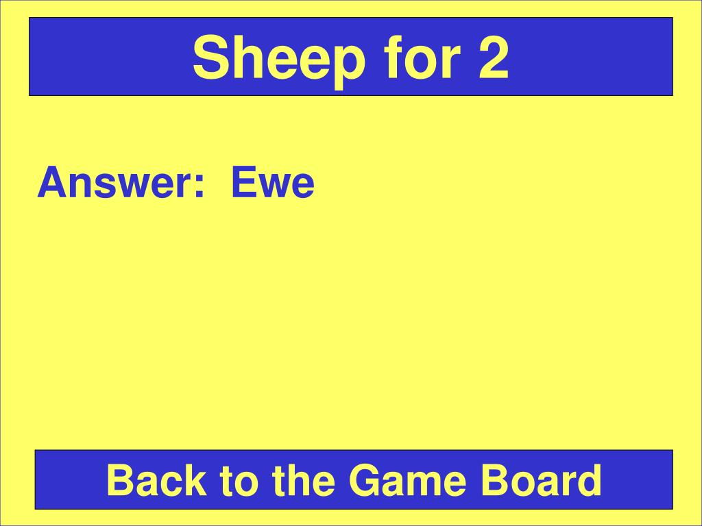 Sheep for 2