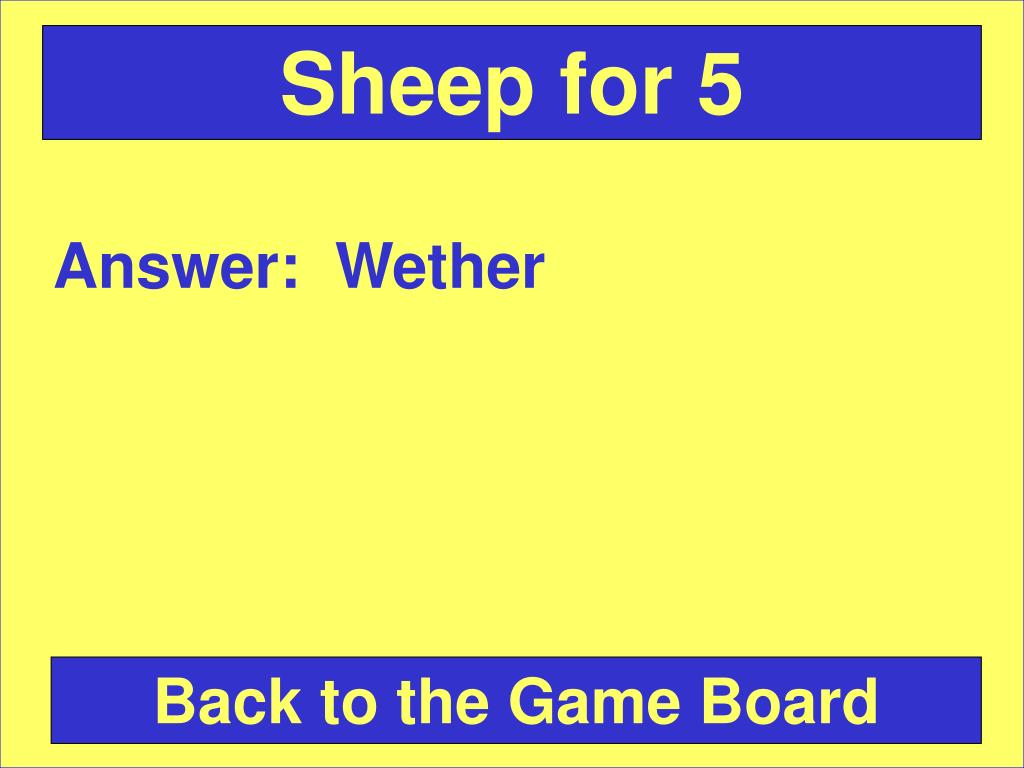 Sheep for 5