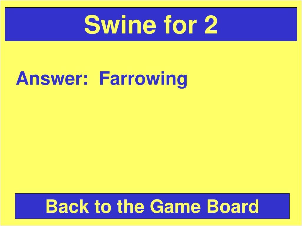 Swine for 2