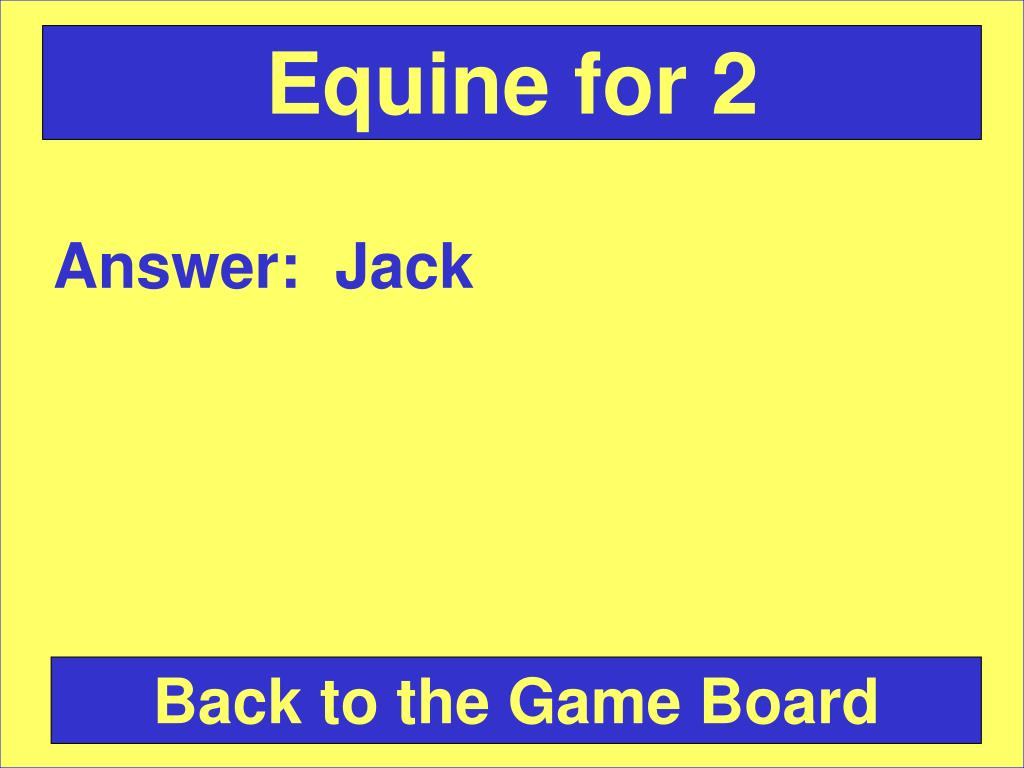 Equine for 2