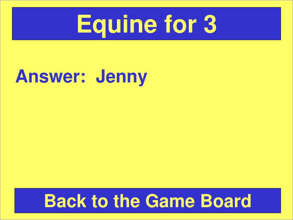 Equine for 3