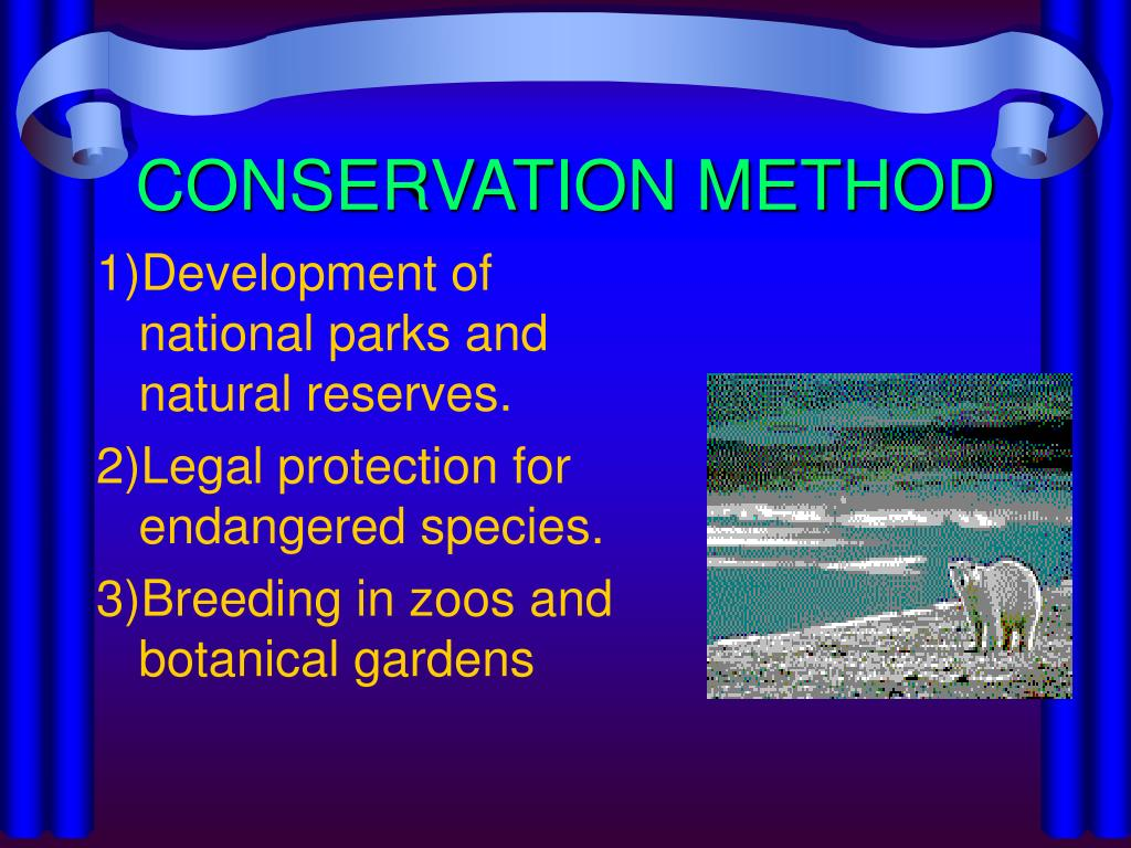 CONSERVATION METHOD