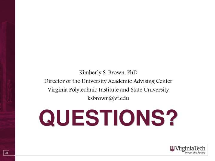 Kimberly S. Brown, PhD