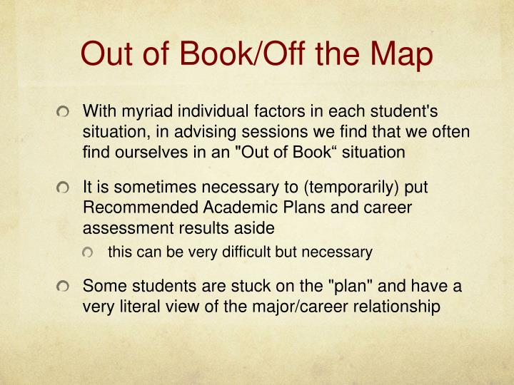 Out of Book/Off the Map