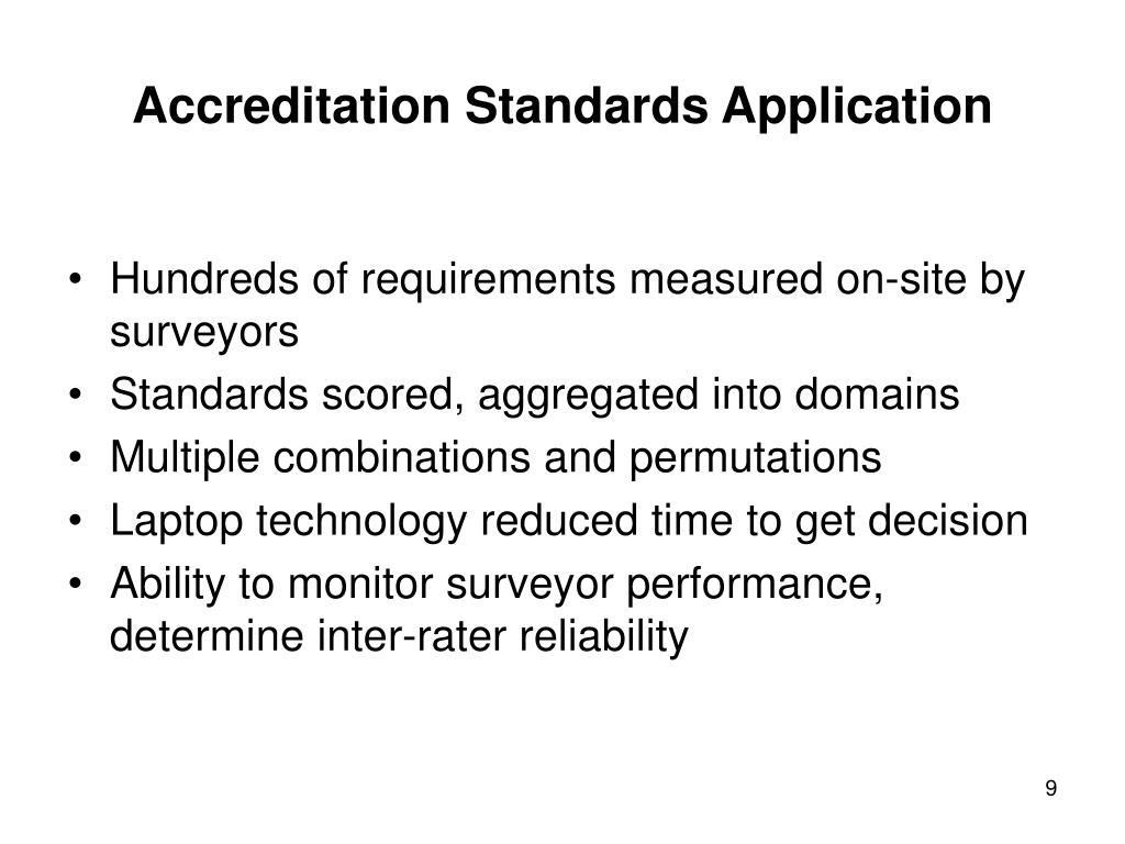 Accreditation Standards Application