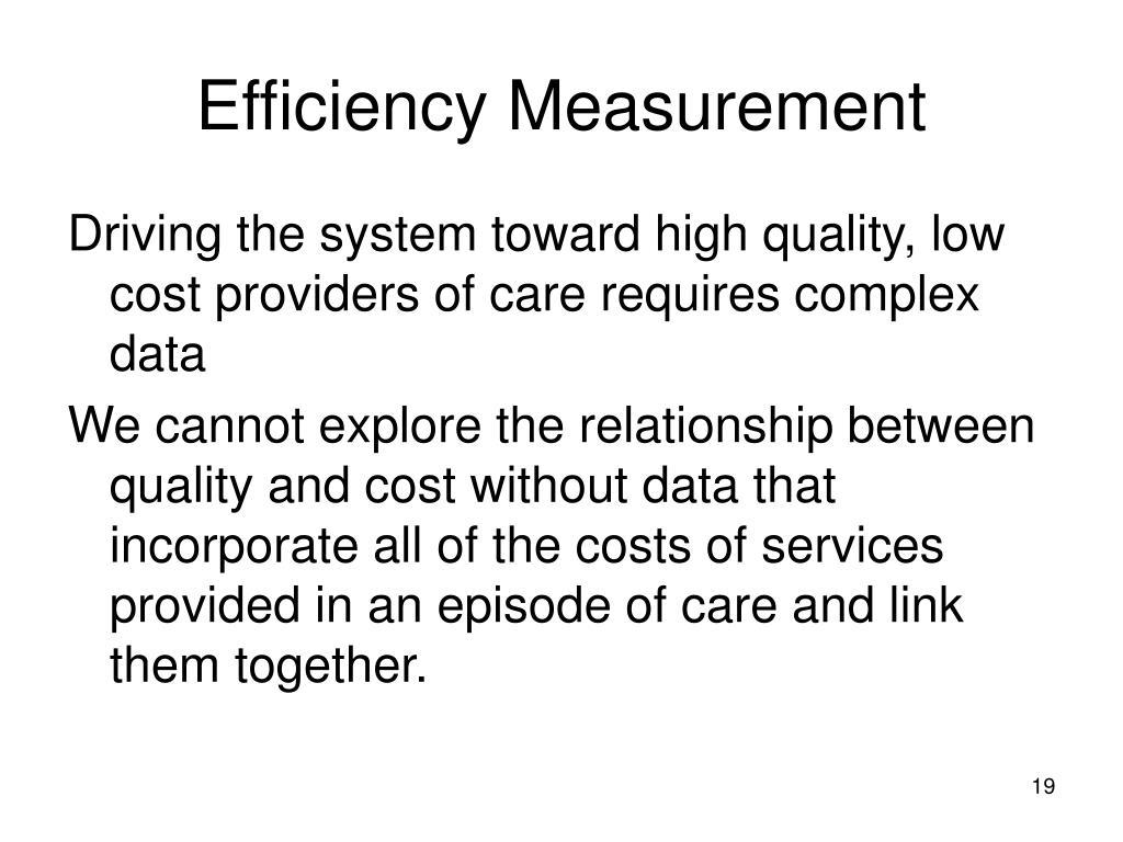 Efficiency Measurement