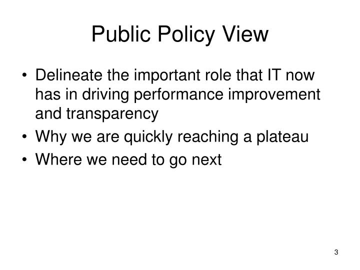 Public policy view