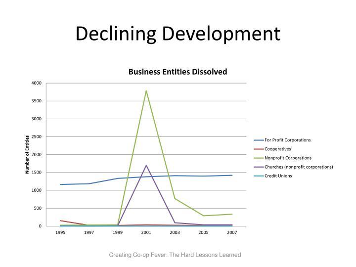 Declining Development