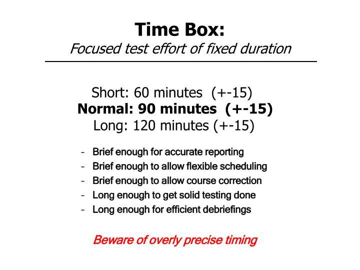 Time Box: