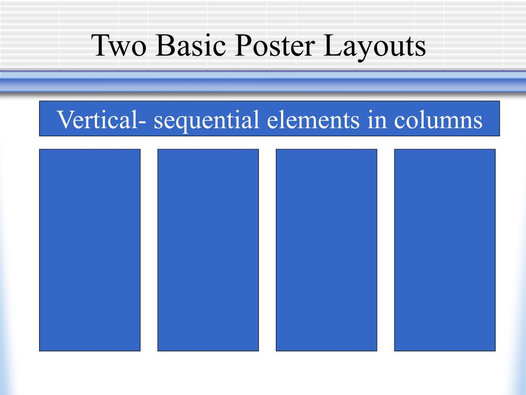 Two Basic Poster Layouts