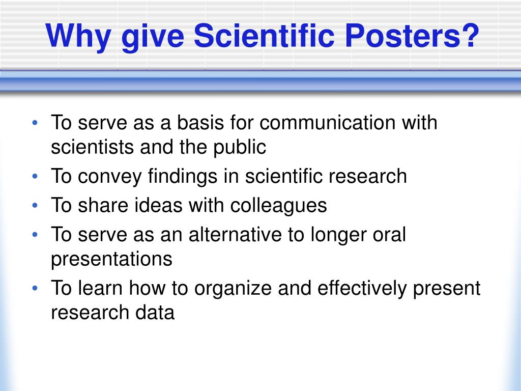 Why give Scientific Posters?