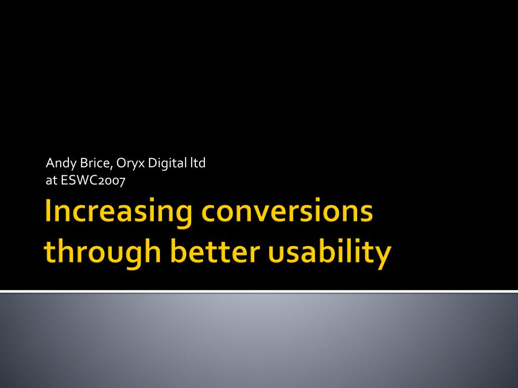 Andy Brice, Oryx Digital ltd