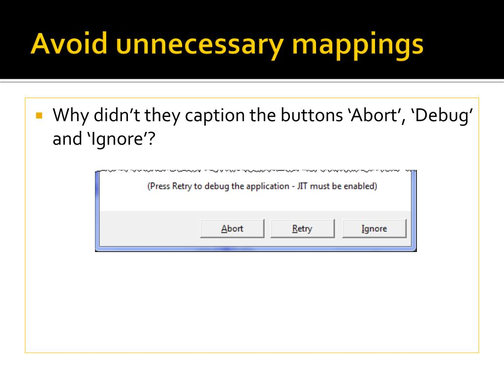 Avoid unnecessary mappings