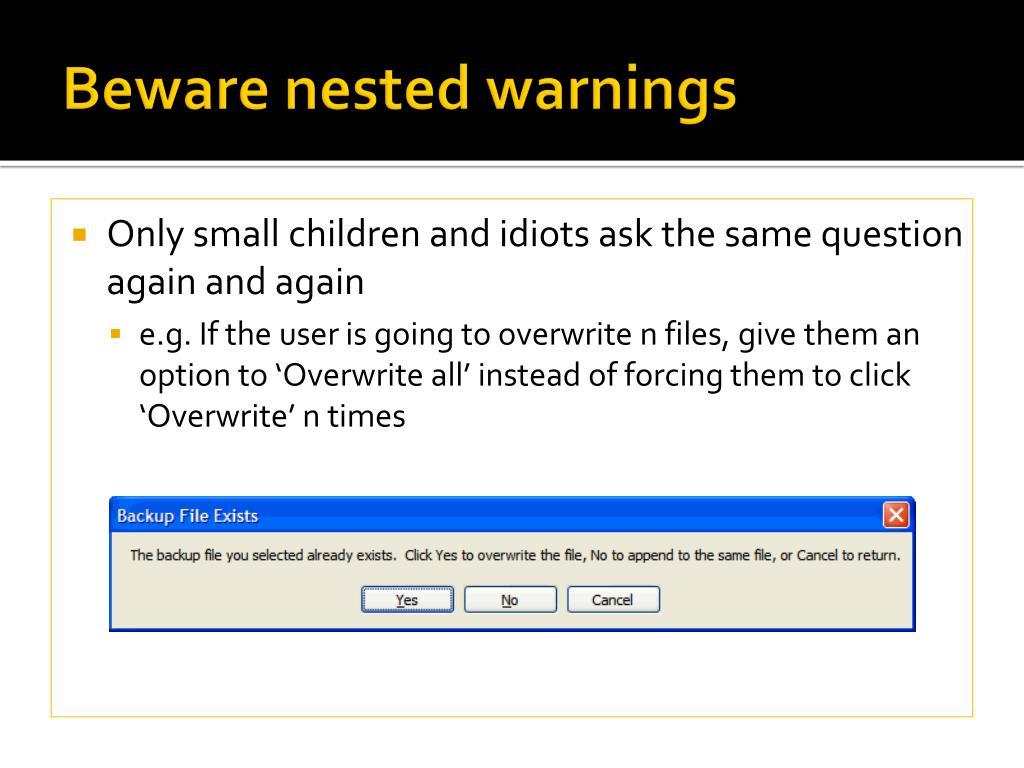 Beware nested warnings