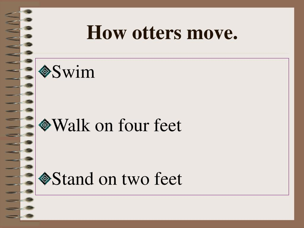 How otters move.