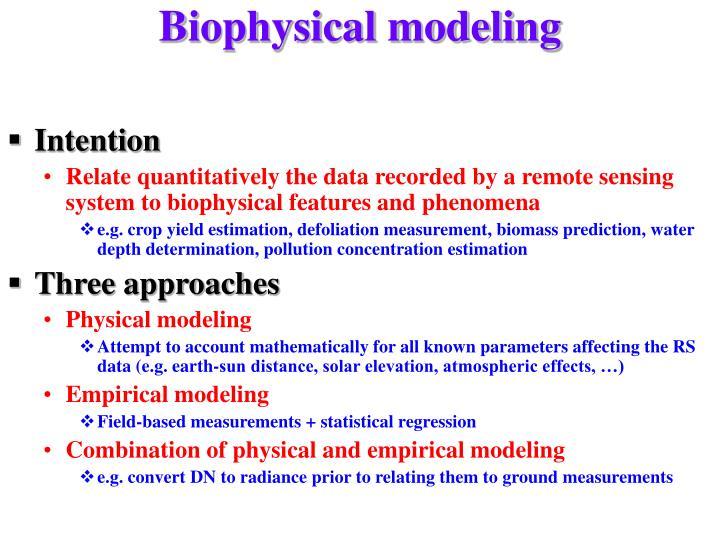 Biophysical modeling