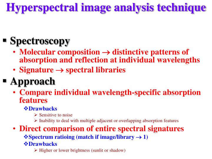 Hyperspectral image analysis technique