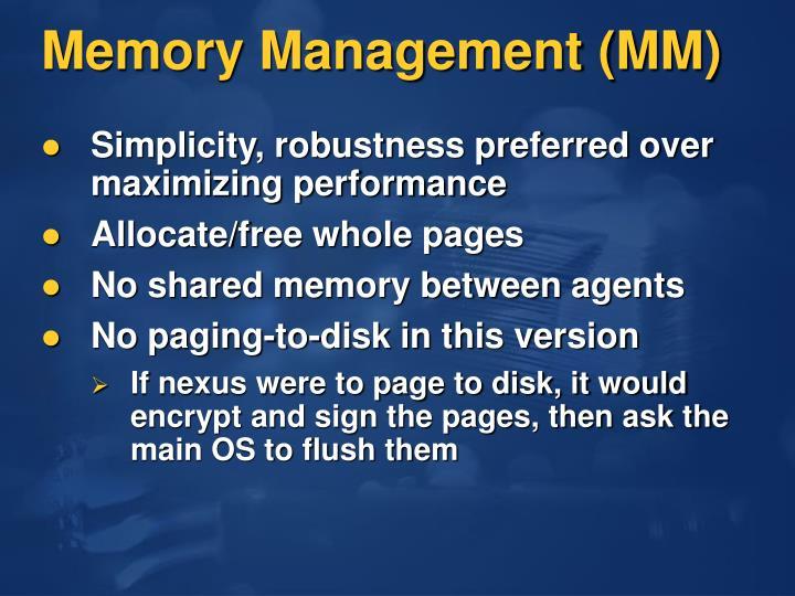 Memory Management (MM)