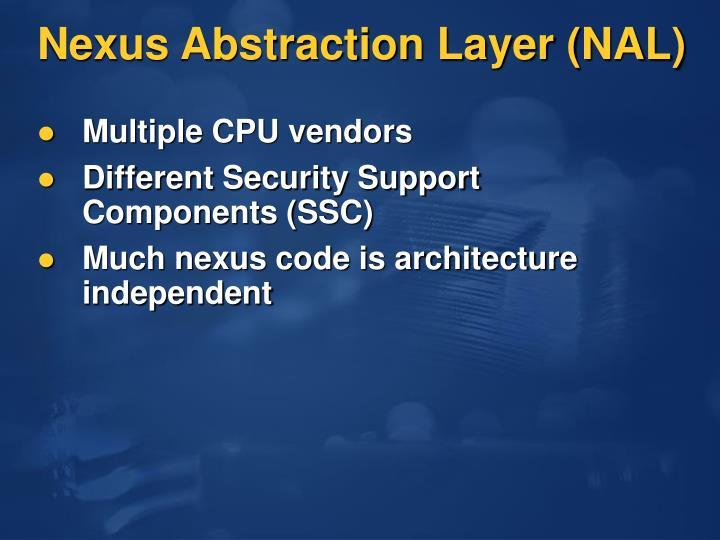Nexus Abstraction Layer (NAL)