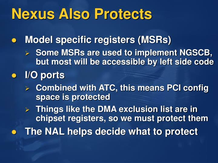 Nexus Also Protects