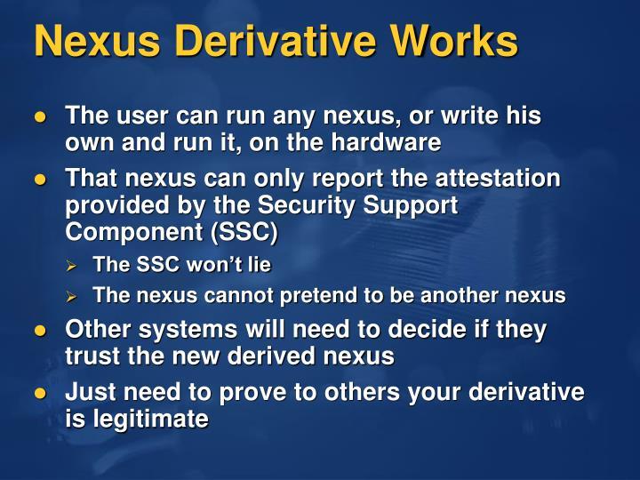 Nexus Derivative Works
