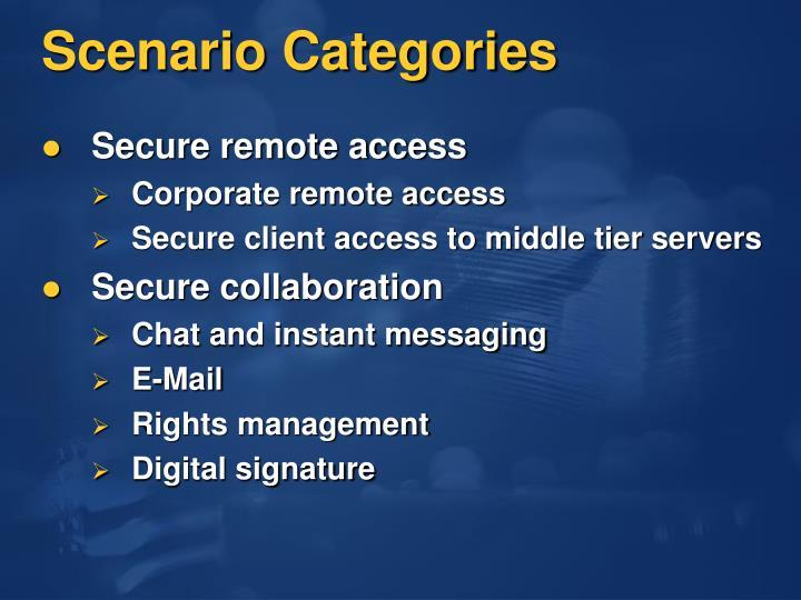 Scenario Categories