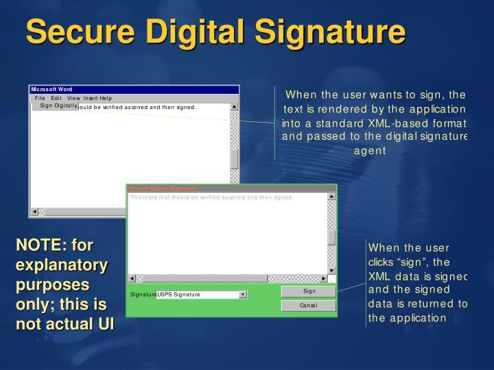 Secure Digital Signature