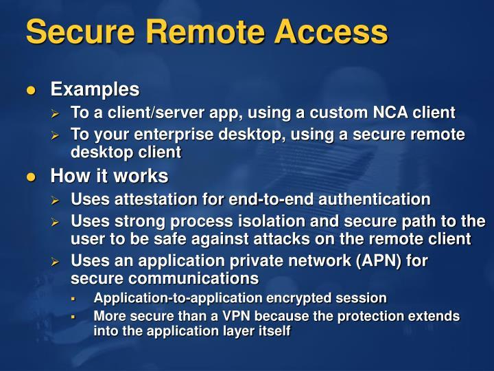 Secure Remote Access
