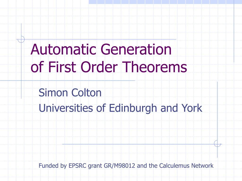 Automatic Generation