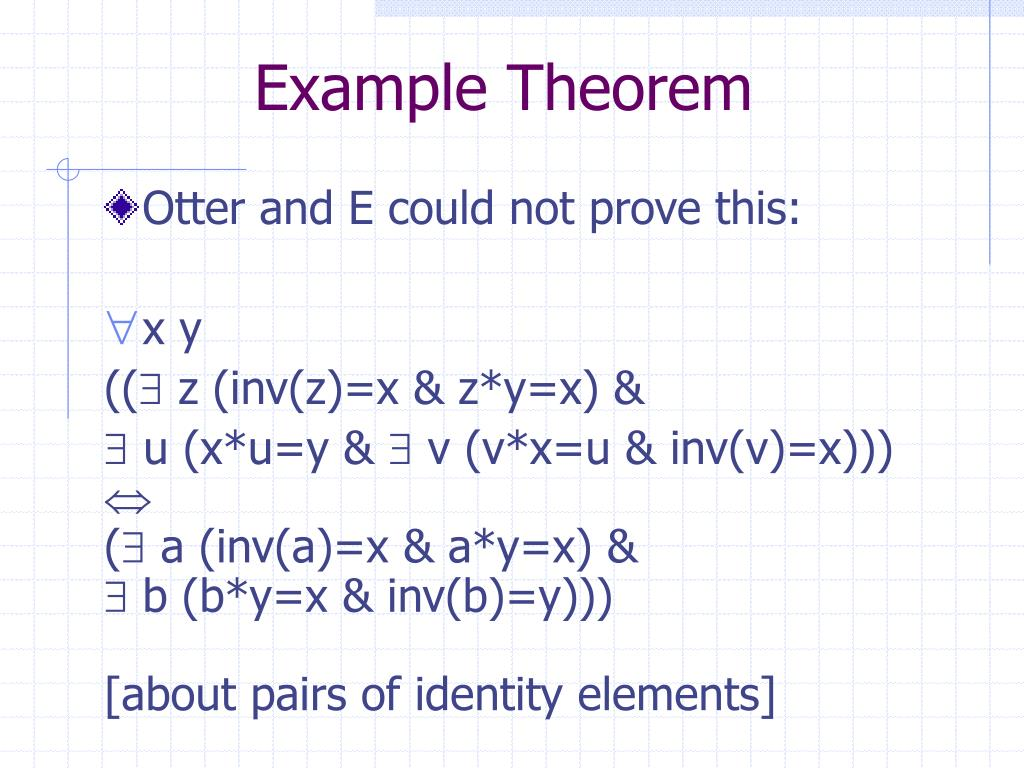 Example Theorem