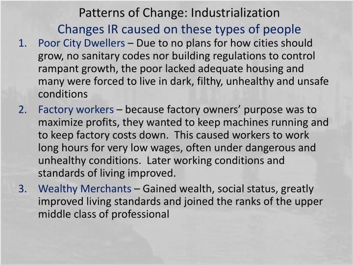 Patterns of Change: Industrialization