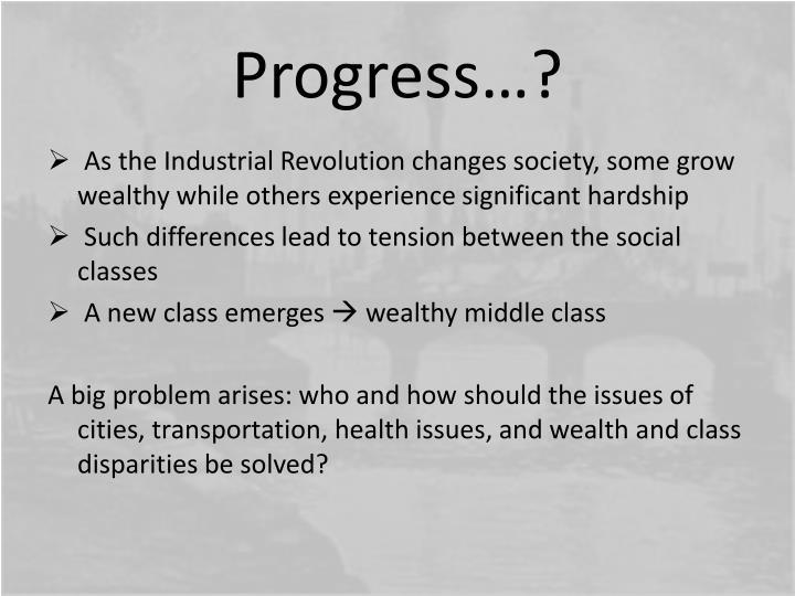 Progress…?