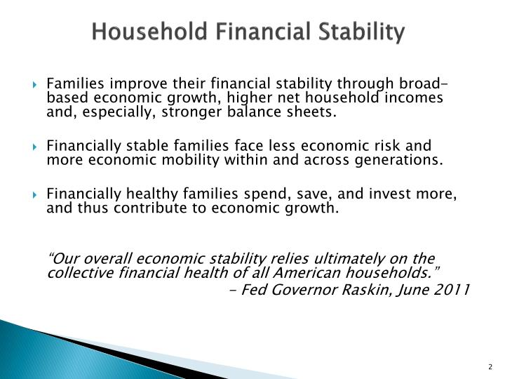 Household Financial Stability