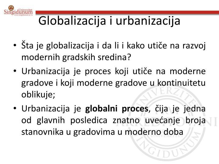 Globalizacija i urbanizacija