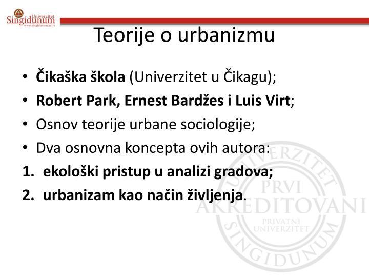 Teorije o urbanizmu