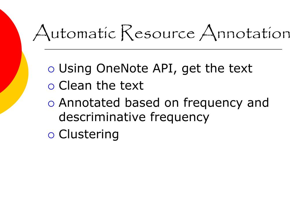 Automatic Resource Annotation
