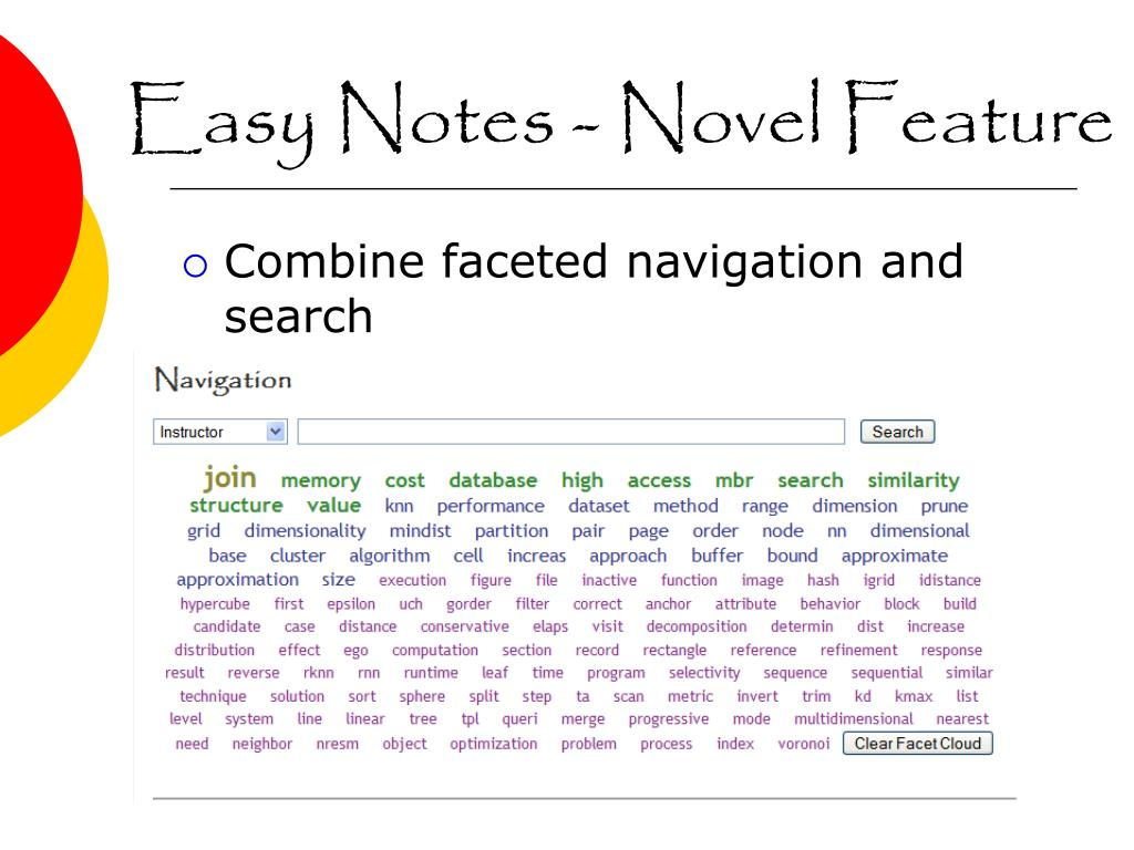Easy Notes - Novel Feature