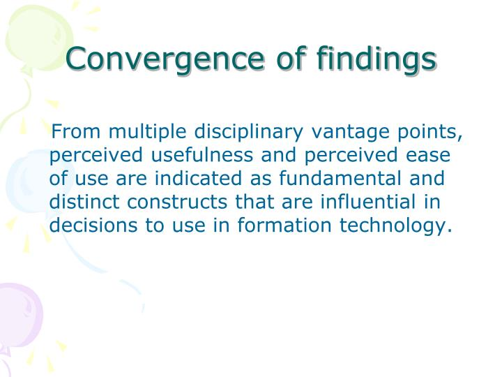 Convergence of findings