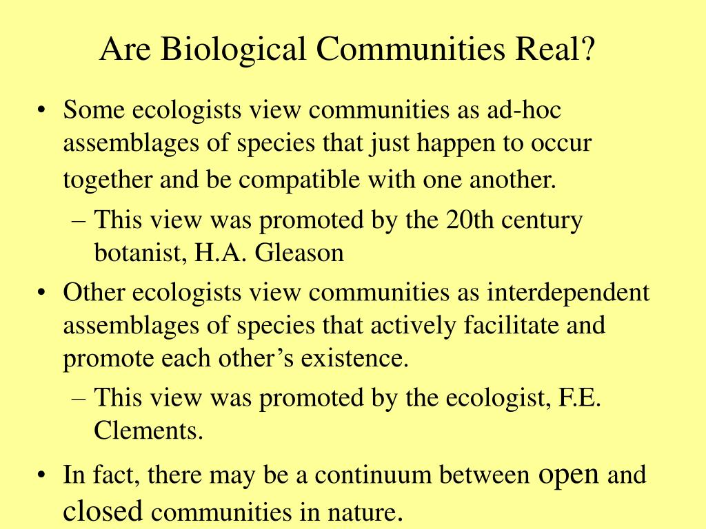 Are Biological Communities Real?