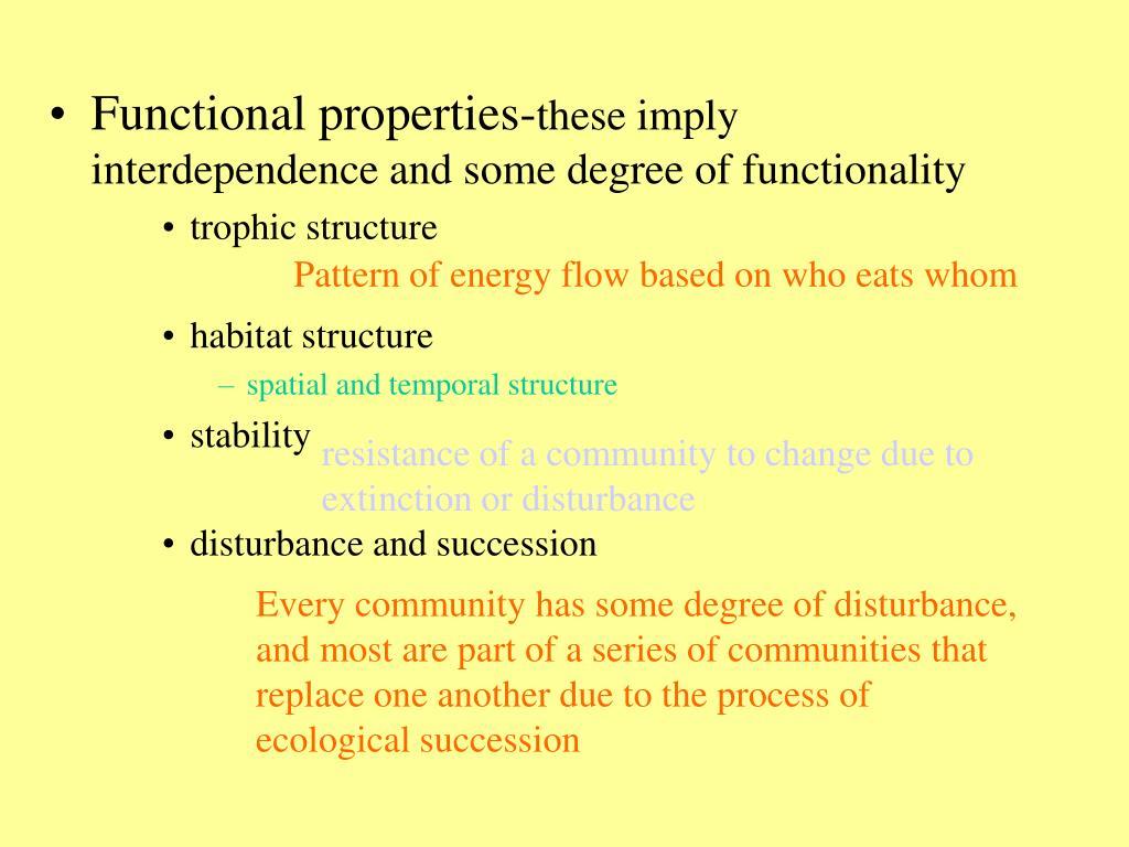 Functional properties-