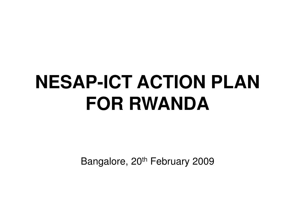 nesap ict action plan for rwanda